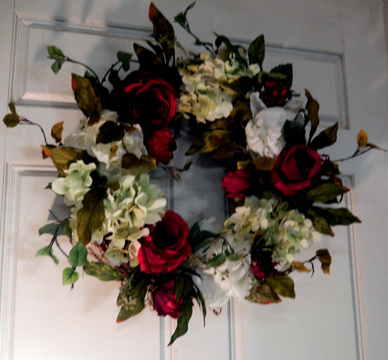 Christmas wreath winter wreath outdoor wreath by forevermore1 for Exterior christmas wreaths