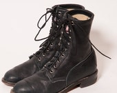 30% OFF Black JUSTIN Lacer Boots Men's Size 7 .5 E
