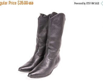 30% OFF Short Black Western Style Boot Women's Size 9