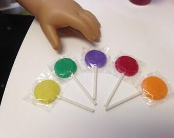 "18"" Girl Doll Food Cinco de Mayo Piñata Candy Set of 5 Lollipops American Made"