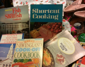 Nice Lot of Six Vintage Retro Cook Booklets
