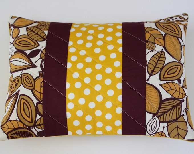 Gold Fall Autumn Leaves Pillow Cover