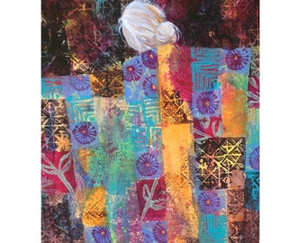 Quilt Art greeting card