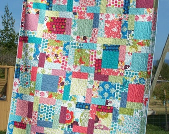 Quilts For Sale, Twin Quilt, Handmade Quilt, Girl Quilt, Bed Quilt, Patchwork Quilt, Busy Hands Quilts