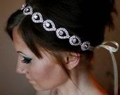 ON SALE Rose Gold Headband, Wedding headpiece, headband, Rose Gold, ELSIE, Rhinestone Headband, Wedding Headband, Bridal Headband, Bridal He