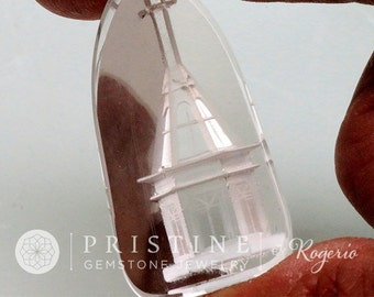 Natural Quartz Carving Artistic Work Collector Gemstone Over 80 Carats One of a Kind piece for Jewelry