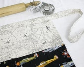 Airplanes Apron - map background