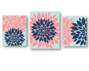 Flowers Art, Flower Art for Bedroom, Bedroom Pictures, Bathroom Artwork, Flower Pictures, Flower Burst Art, Flower Nursery Decor