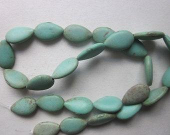 Magnesite Teardrop Beads 16x10mm 10 Beads