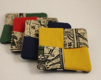 Zelda storyboard fabric drink coasters set of 4