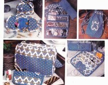 Vogue 1528 Travel Accessories Jewelry,  Roll,  Hanging Organizer, Cosmetic Kit or Case, Sewing Kit and Shoe Bag Uncut