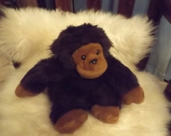 Sale Darling You Brown Gorilla Stuffed Plush Monkey Baby Animal Soft Toy Kids Mint Puffy gift
