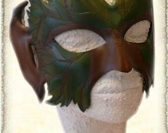 Handmade leather fantasy mask