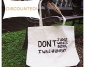 50% DISCOUNTED: IMPERFECT Canvas Tote Bag. Market Bag. Grocery Bag.