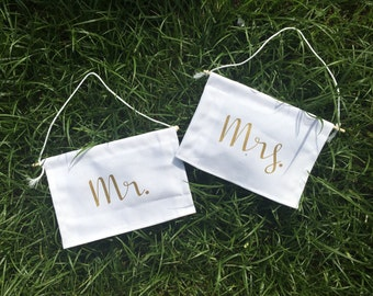 Mr. And Mrs. Chair signs, Mr. And Mrs. Chair banners, mr. And mrs. Signs