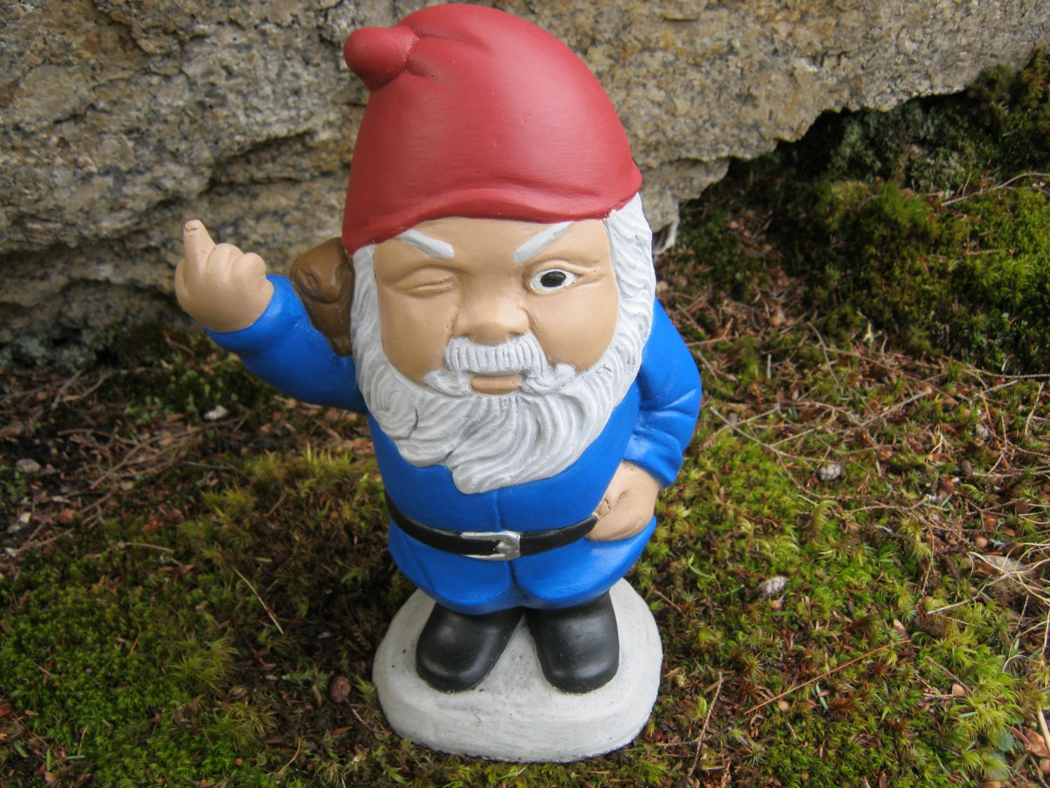 Gnome For Garden Finger Flipping Gnomes By Westwindhomegarden