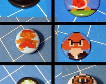 Choose 1 Super Mario Badge - 1 inch Button Badge