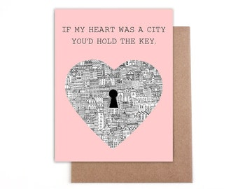 If My heart was a city... Valentines Day Card