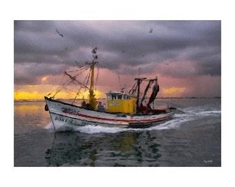 Fishing Painting Print - Free Shipping