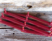 Wooden Expandable Accordion Rack 10 Pegs Hat Rack Jewelery Display Red Wood Wall Rack Rustic Farmhouse Decor