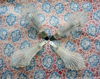 Curtain Tie Backs, Drapery Tiebacks, Curtain Ties Set of 4, Vintage Plastic Curtain Holders