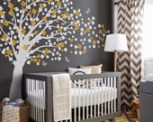 Nursery Wall Decal - Romantic cherry blossom tree wall decal wall sticker