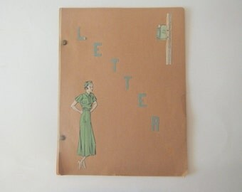1930's Handwritten Etiquette Letters Collection, Examples, Beautiful Cursive Writing Penmanship