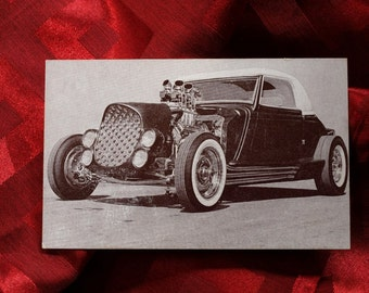 Card Ford Hot Rod 1934 International Championship Auto Shows blown Olds Engine Cragar Blower Carson Top Auto Car Postcard Alexander Bros