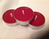 Red tea light candles unscented