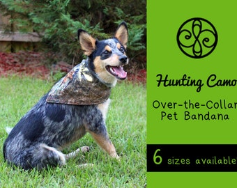 REVERSIBLE Hunting Camouflage & Brown Pet Bandana
