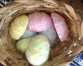 CLEARANCE Easter Egg Soap Vanilla Pastel Colors