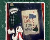 Lizzie Kate: Dear Santa, I Can Explain - a Snippet Cross Stitch Pattern