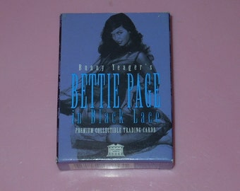 Bettie Page In Black Lace Trading Cards