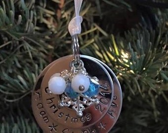Stainless Steel Customizable Christmas Ornament