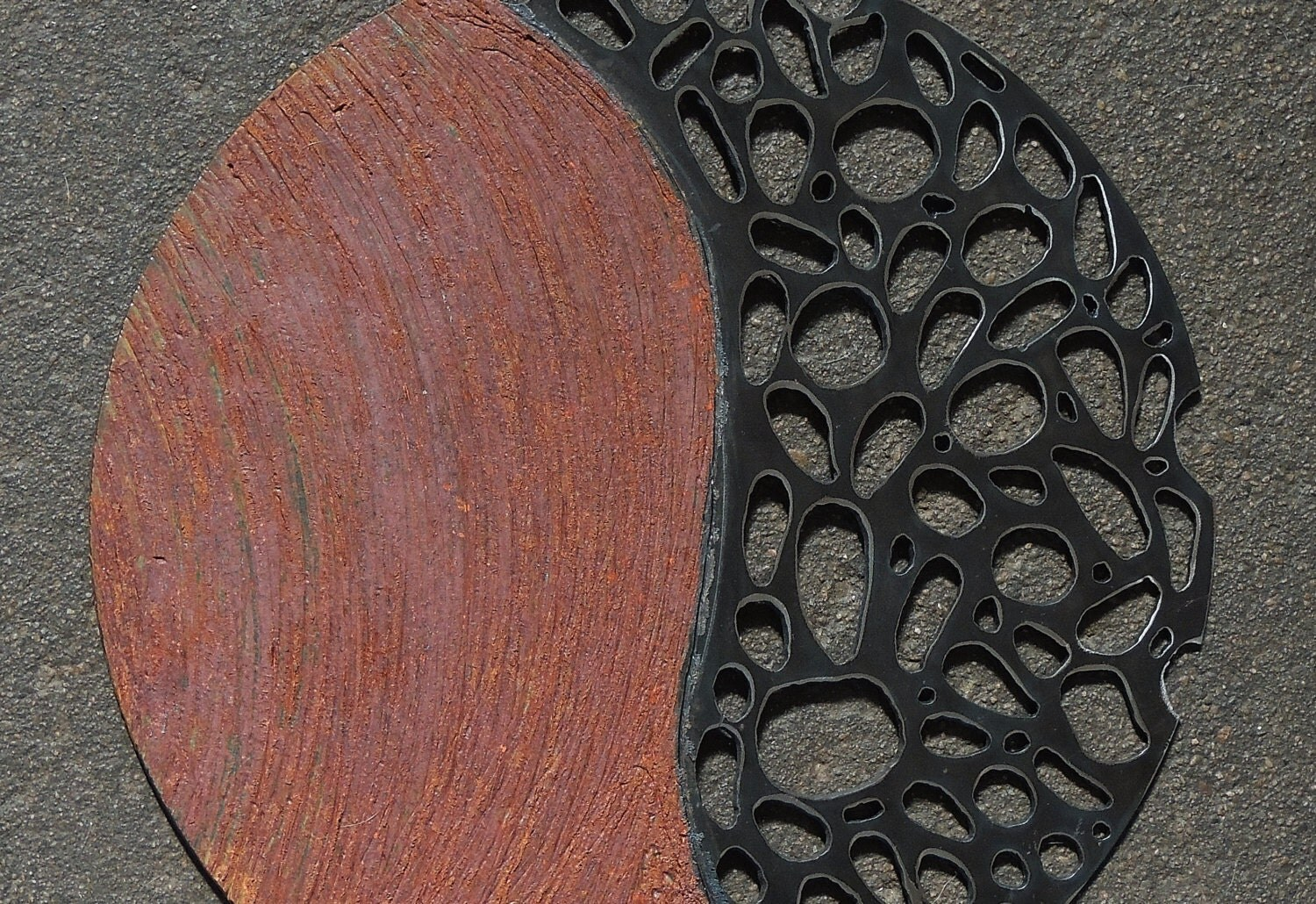 Round Outdoor Wall Decor : Round metal wall sculpture indoor outdoor by