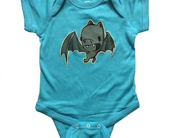 bat baby one piece body suit, bat baby apparel, bat infant jumper, bat romper, baby gift, baby apparel, baby shower gift, onesie
