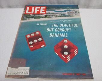 Life Magazine February 1967, Bahamas, Twiggy, Cryobiology, James Bedford, Campbells, Chevelle Ford Mercury, vintage advertising