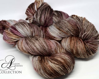 Hand Dyed Superwash Merino Wool Yarn - Worsted weight - Boots or Hearts