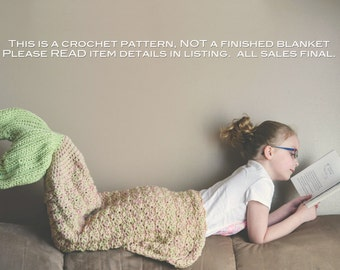 Crochet Pattern for Mermaid Tail Blanket - DIY Tutorial to make it yourself - Welcome to sell ...