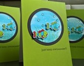 Get Well Card, Encouragement Card, Support Card, Fish Card, Just Keep Swimmin'