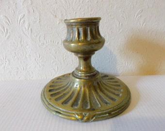 Antique Georgian Brass Candlestick Holder