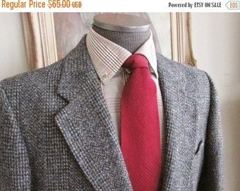 Vintage Mens Harris Tweed Blazer-Mens Harris Tweed Jacket- Mens Harris Tweed Sportcoat Multi Color Brown No Tag Size About Size 40 Reg