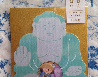 NEW 50 washi style sticker flakes Japanese Daibutsu