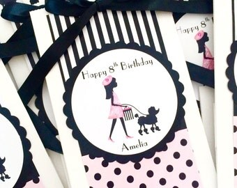 Paris Party Favor Bags (Set of 12), Eiffel Tower Favor Bags, Paris Theme Party, Paris Treat Bags, Gift Bag, Paris Party Decorations