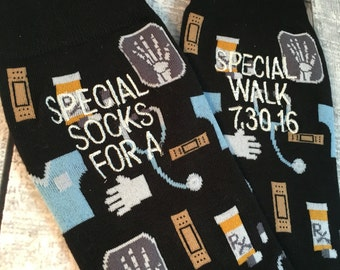 Father of the Bride gift - Groom Socks - Mens Dress Socks - Special Socks - Wedding Gift - Dad Gift - Father of the Bride socks - doctor