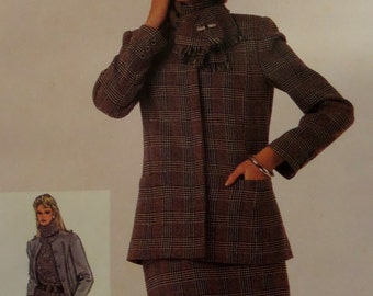 PRINCESS SEAM JACKET Pattern • Simplicity 7181 • Miss 18-20 • Pleated Pants Pattern • Slim Skirt Pattern • Vintage Pattern • WhiletheCatNaps