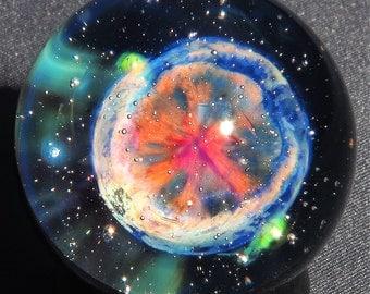 Cartwheel Planetary Nebula Glass Marble