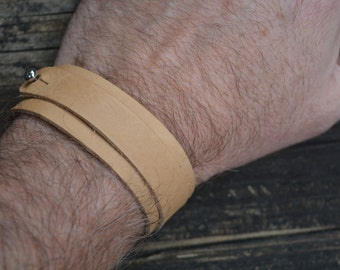 """Hand Cut and Dyed Leather Bracelets...12.5"""" Long x 2mm thick...Perfect for Wrap Bracelet and adding your own components"""