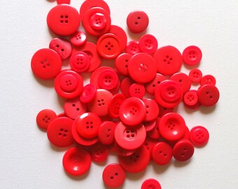 70 Cherry RED buttons