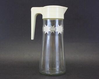 Vintage Atomic Star Juice Pitcher with Plastic Lid (E7567)